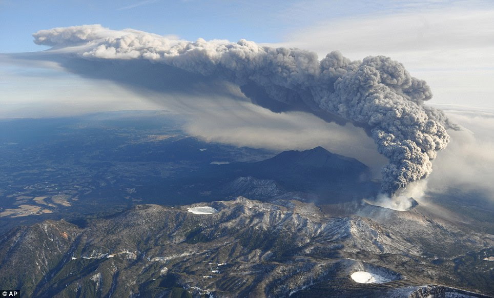 Volcanic activity is often reported in the Kirishima range, but Shinmoedake's is the largest eruption since 1959