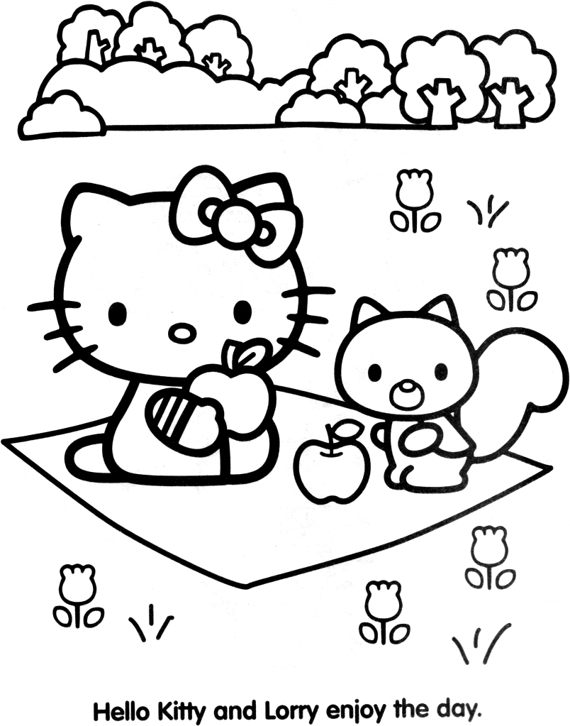 Coloriage hello kitty gratuit dessin a imprimer 80
