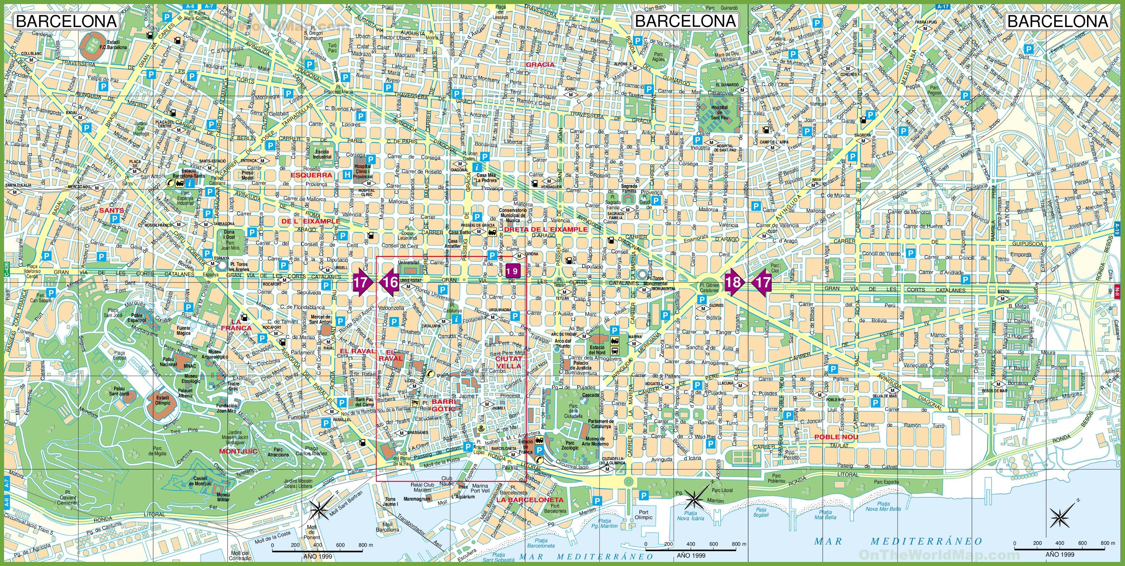 Barcelona Maps - Barcelona info