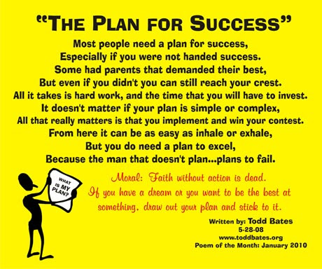 January 2010 The Plan For Success Todd Bates