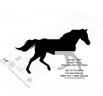 Horse Trotting Yard Art Woodworking Pattern - fee plans from WoodworkersWorkshop® Online Store - horses,equestrian,shadow art,silhouettes,yard art,painting wood crafts,scrollsawing patterns,drawings,plywood,plywoodworking plans,woodworkers projects,workshop blueprints