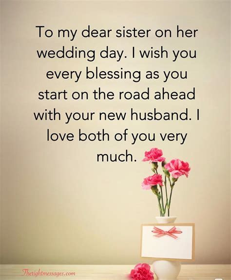 Short And Long Wedding Wishes For Sister   The Right Messages