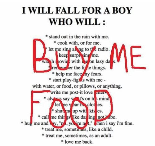 LOL - buy me food