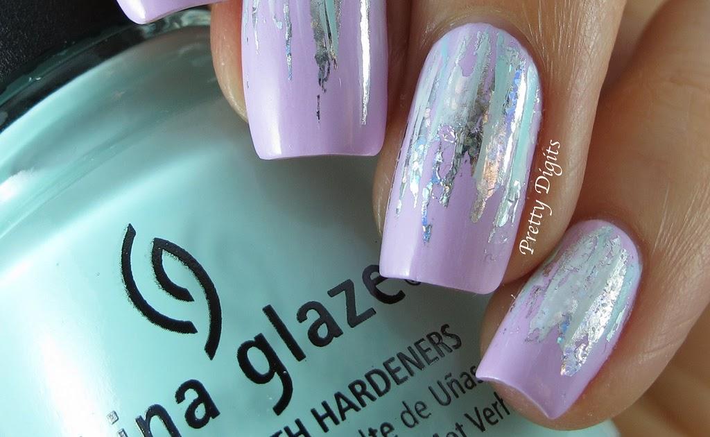 Pretty Digits: Waterfall nails using Born Pretty Store Nail Foil
