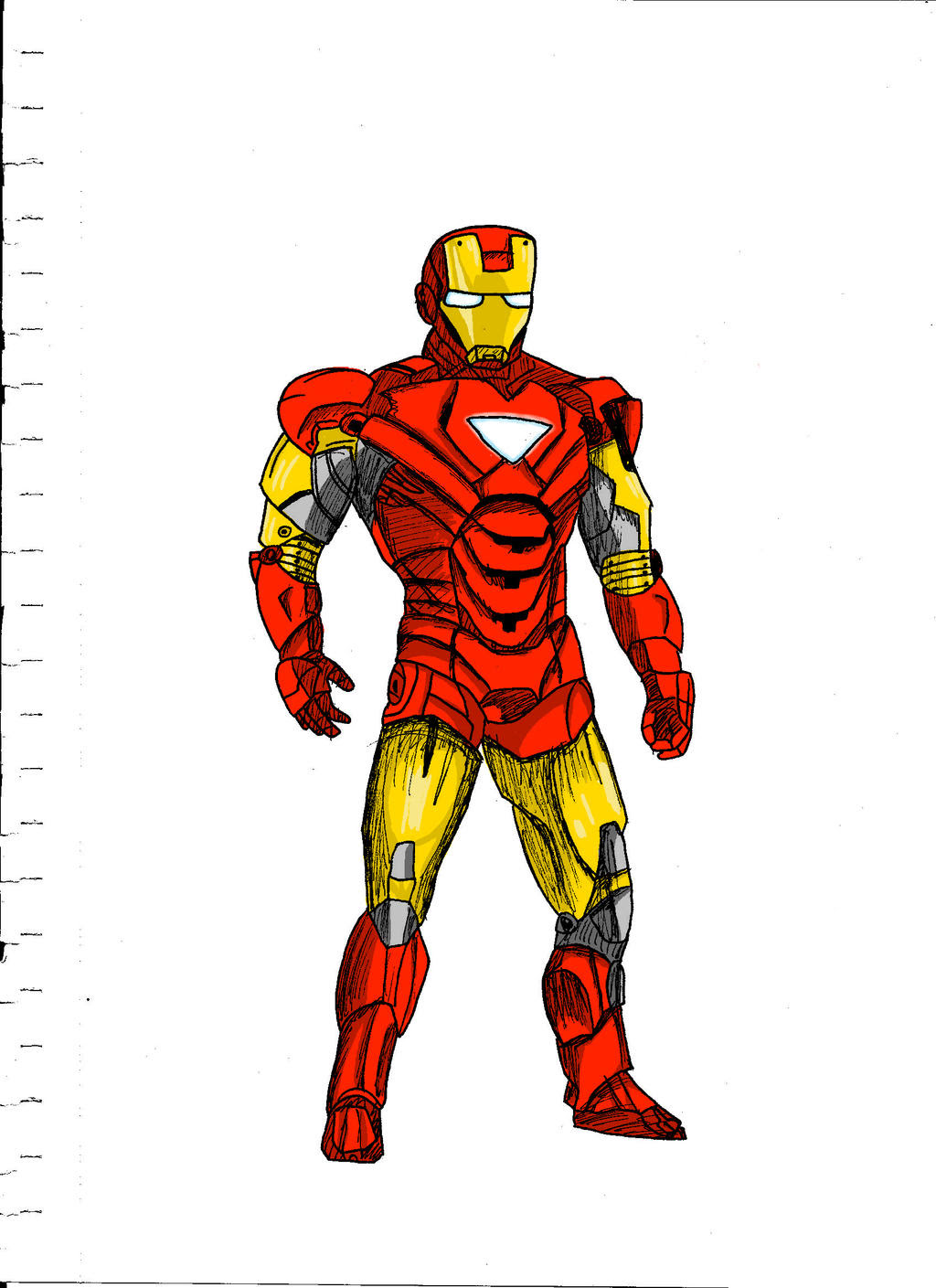 Iron Man color by Kireshi on DeviantArt