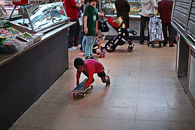 Kid and Skateboard [enlarge]