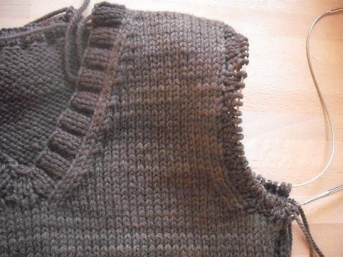 tricotar um colete