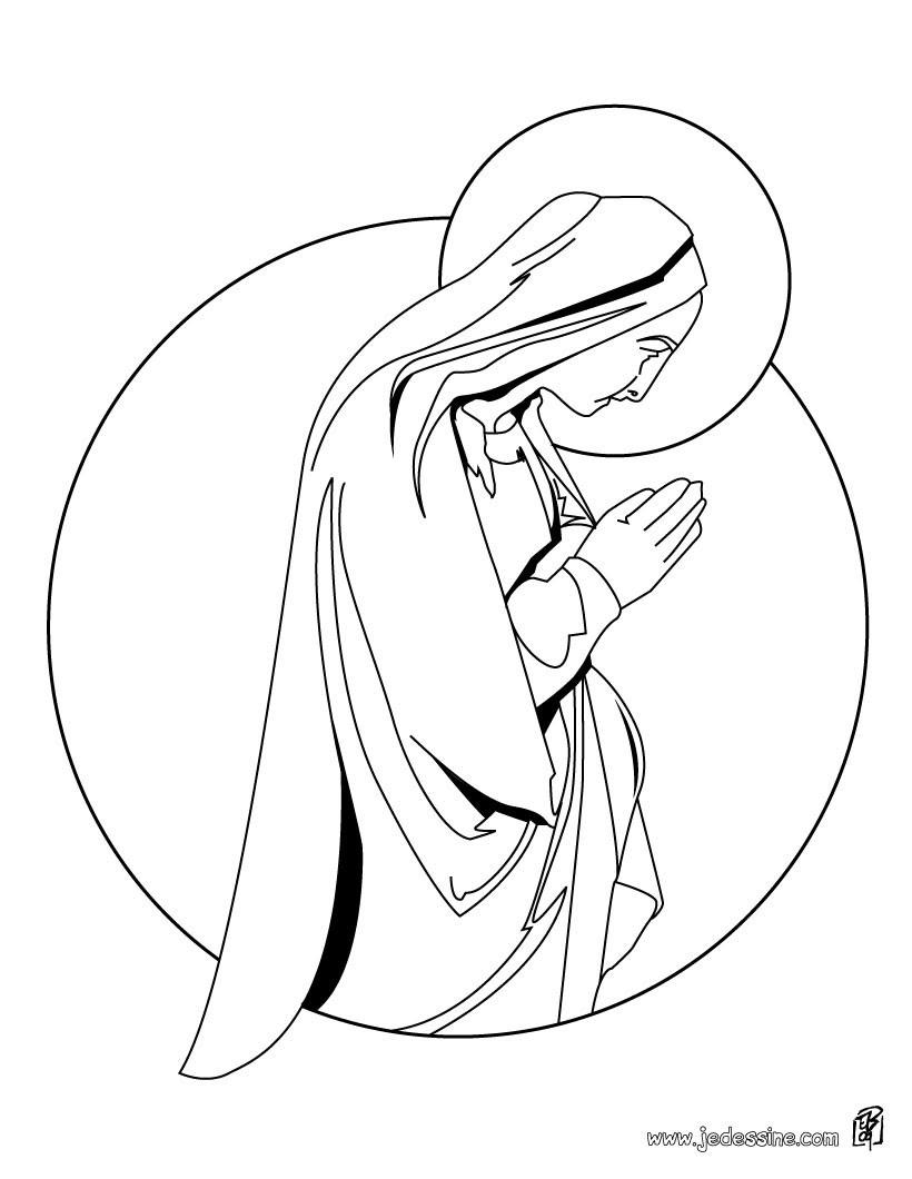 Coloriage de la Vierge Marie