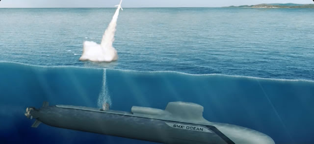 The SMX OCEAN concept is fitted with an impressive load of up to 34 weapons for action in the four domains: anti-air, anti-surface, anti-submarine & action against land targets.