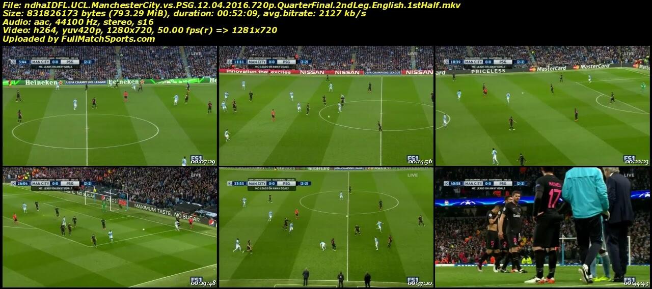 FULL MATCH Manchester City vs PSG UCL 2016