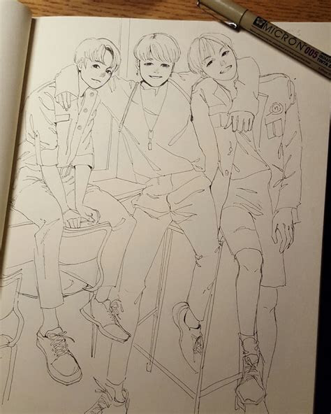 xiaoart bts drawings   anime mangas manga dessin