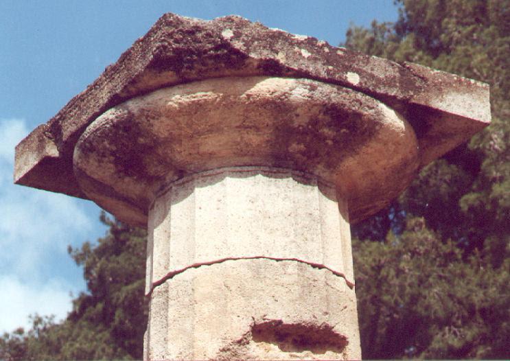 Hera-tempel - Dorisch kapiteel