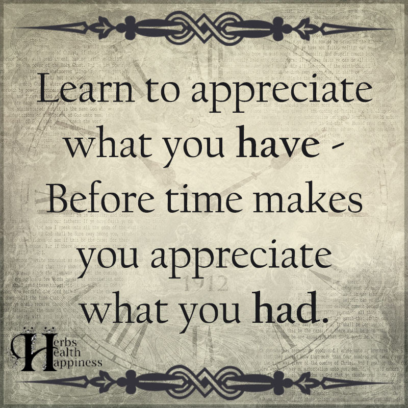 Learn To Appreciate What You Have ø Eminently Quotable Quotes