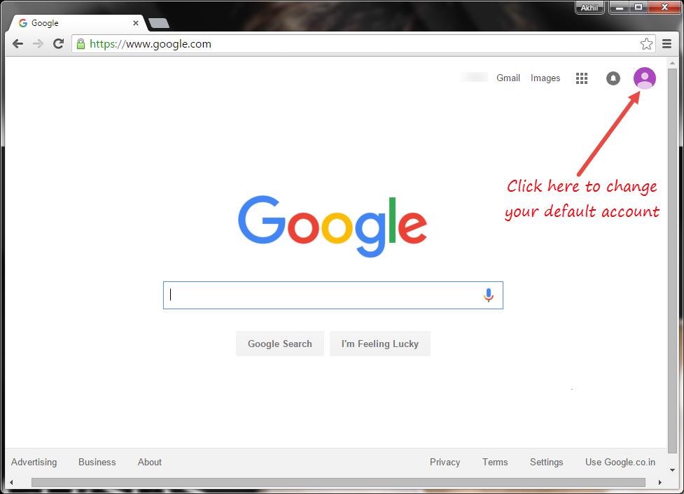 Change Default Google Account in Multiple Sign In