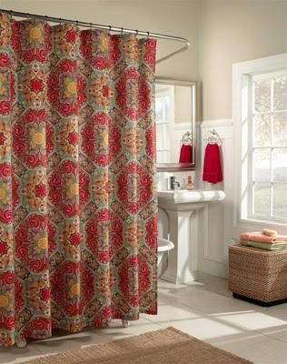Kashmir shower curtain, fashion colors,Moroccan influenced ...