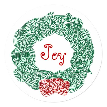 Joy Christmas Wreath Personalized Invite