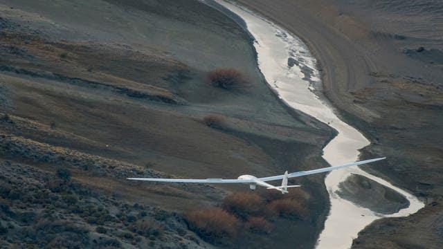 Perlan II, el planeador construido por Airbus en pleno vuelo