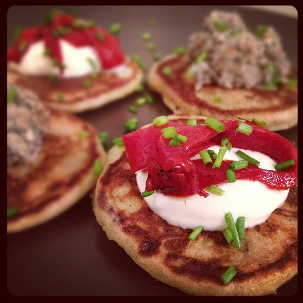 Buckwheat blinis by Monica Shaw