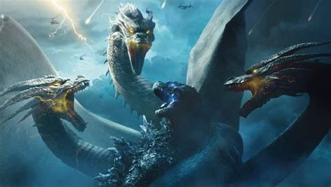 ghidorah takes  godzilla   king   monsters poster
