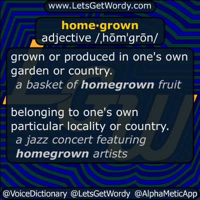 homegrown 09/29/2016 GFX Definition