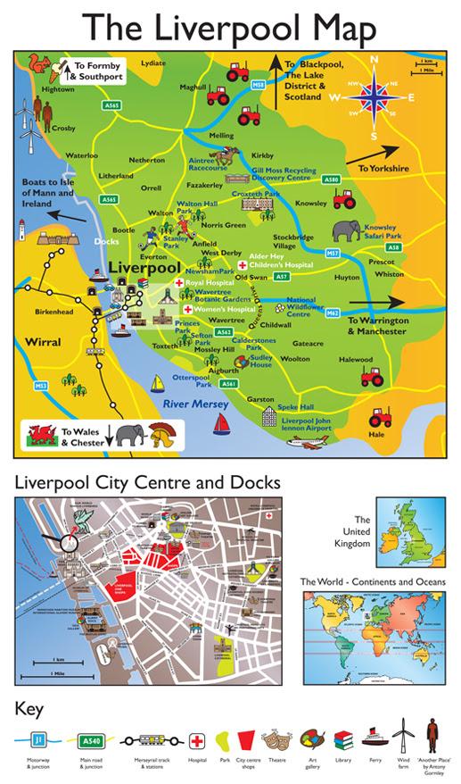 map, schools, geography, liverpool KS1, KS2,   Creativo - Wirral Graphic Design