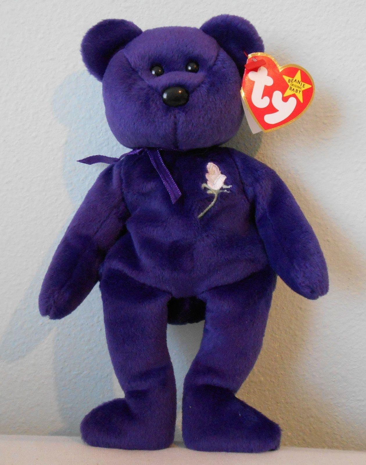 Beanie Babies  Princess Diana Bear Beanie Baby Value f6b5a15439f