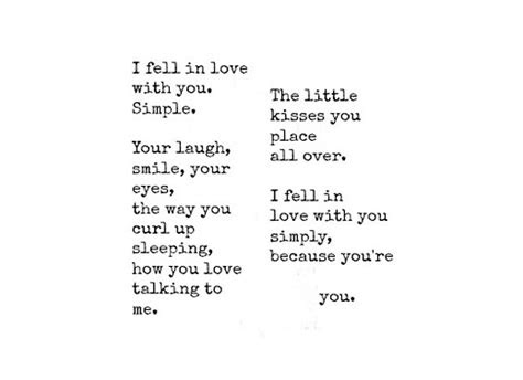 I Fell For You Because Quotes