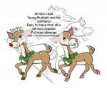 Young Rudolph and his Girlfriend Yard Art Woodworking Pattern - fee plans from WoodworkersWorkshop® Online Store - Rudolph the red nosed reindeer,girlfriend,yard art,painting wood crafts,scrollsawing patterns,drawings,plywood,plywoodworking plans,woodworkers projects,workshop blueprints