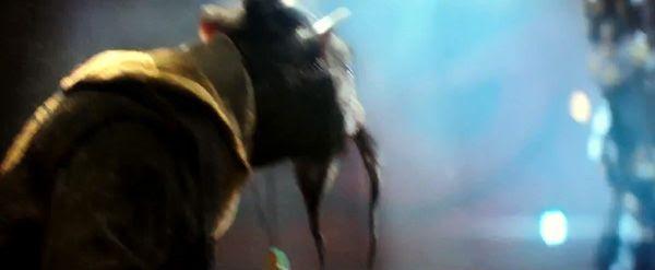 Splinter (voiced by Tony Shalhoub) is a mentor to the Ninja Turtles in TEENAGE MUTANT NINJA TURTLES.