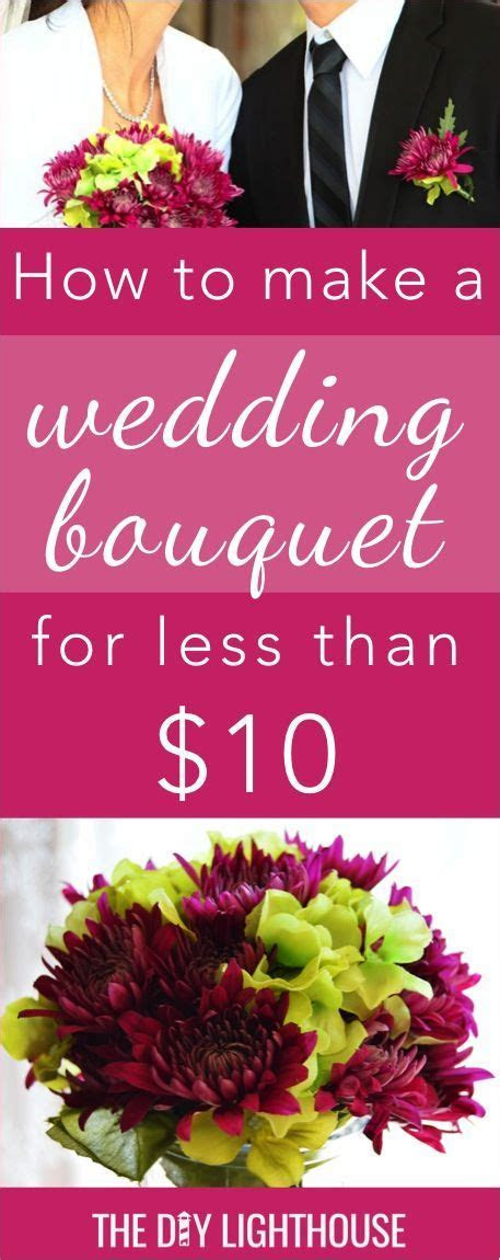 How to Make an Easy and Cheap DIY Wedding Bouquet   Our