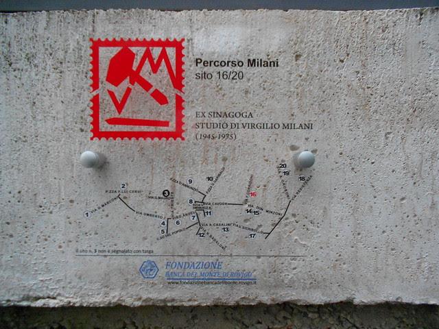 targa percorso Milani, ex sinagoga