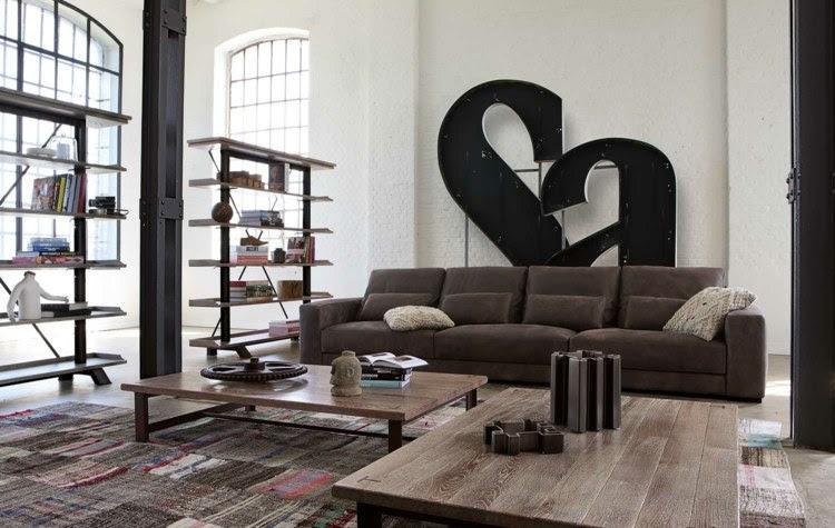 Ledercouch Cognac | Wohnzimmer Ideen Mit Brauner Couch Für ...