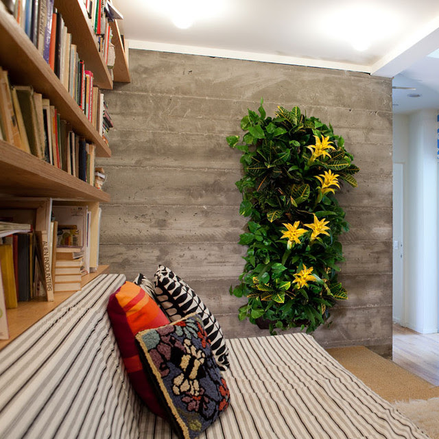 Wally One Indoor+Outdoor Living Wall - contemporary - indoor pots ...
