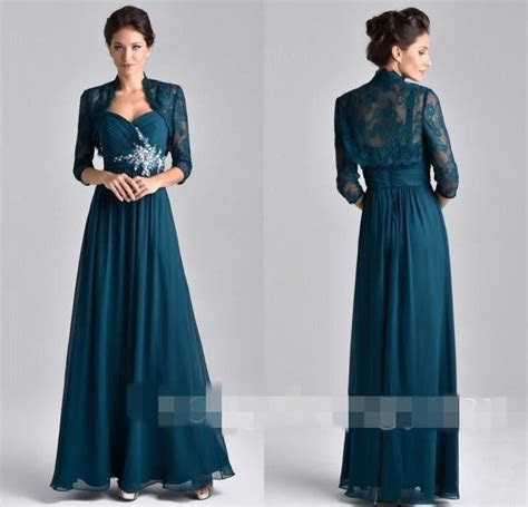 2017 Elegant Fall Winter Mother Of Bride Dresses With Long