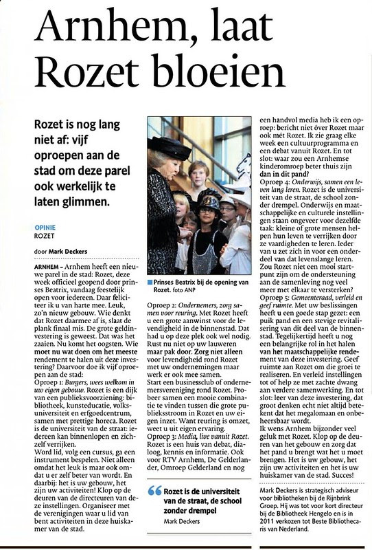 opinie gelderlander Rozet M. Deckers december 2013