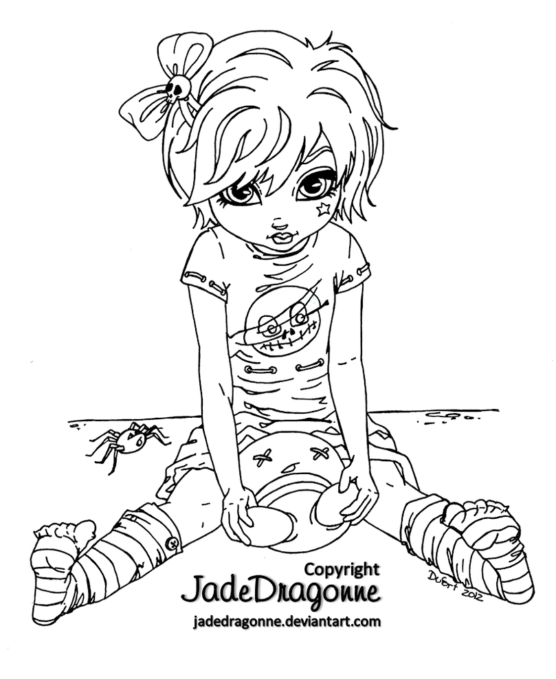 Gothic Doll - Lineart by JadeDragonne on DeviantArt