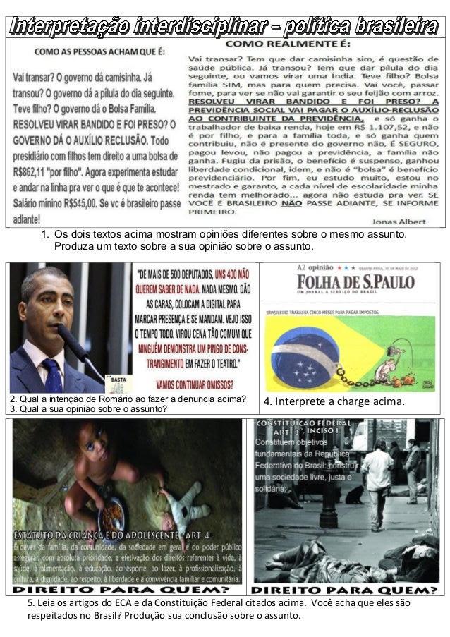 Interpretação interdisciplinar politica brasileira