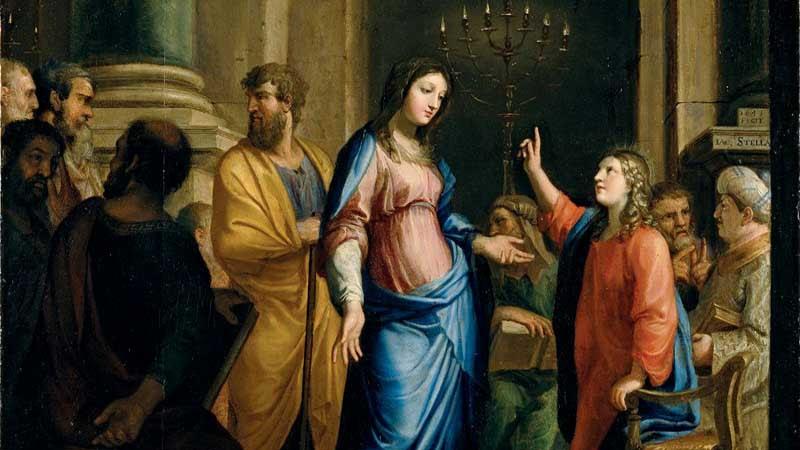 Jesús Fue A Nazaret Y Crecía Sujeto A San José Y La Virgen María