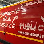 FORBACH. Pompiers en grève : malgré la plainte, de nouveaux tags sur les véhicules