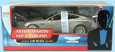 The Beanstalk Group James Bond 007 Aston Martin V12 Vanquish 1 18 Silver Wholesale Toys And Diecast Model Cars