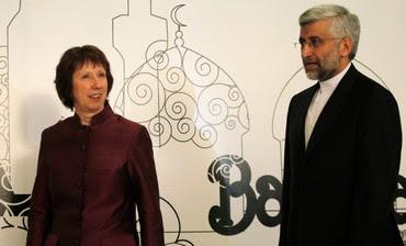 Catherine Ashton, Iranian negotiator Saeed Jalili