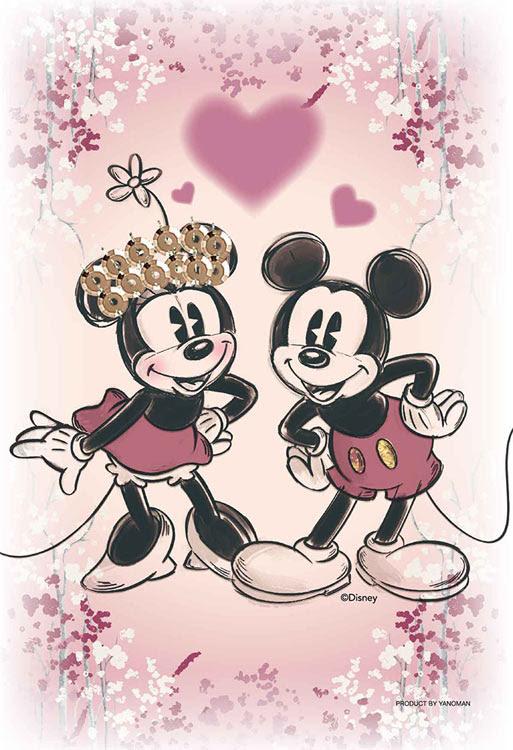 Yam 97 188 ディズニー Kiriart Mickey Minnie ミッキーミニー