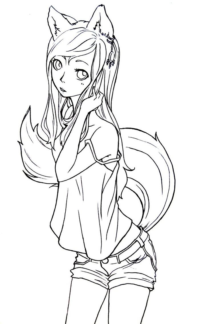 Anime Neko Coloring Pages at GetColorings.com   Free ...
