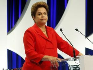 Dilma Rousseff durante debate entre presidenciáveis em SP (Foto: Paulo Whitaker/Reuters)