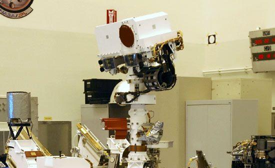 The Mast Camera instrument on NASA's Curiosity Mars rover.