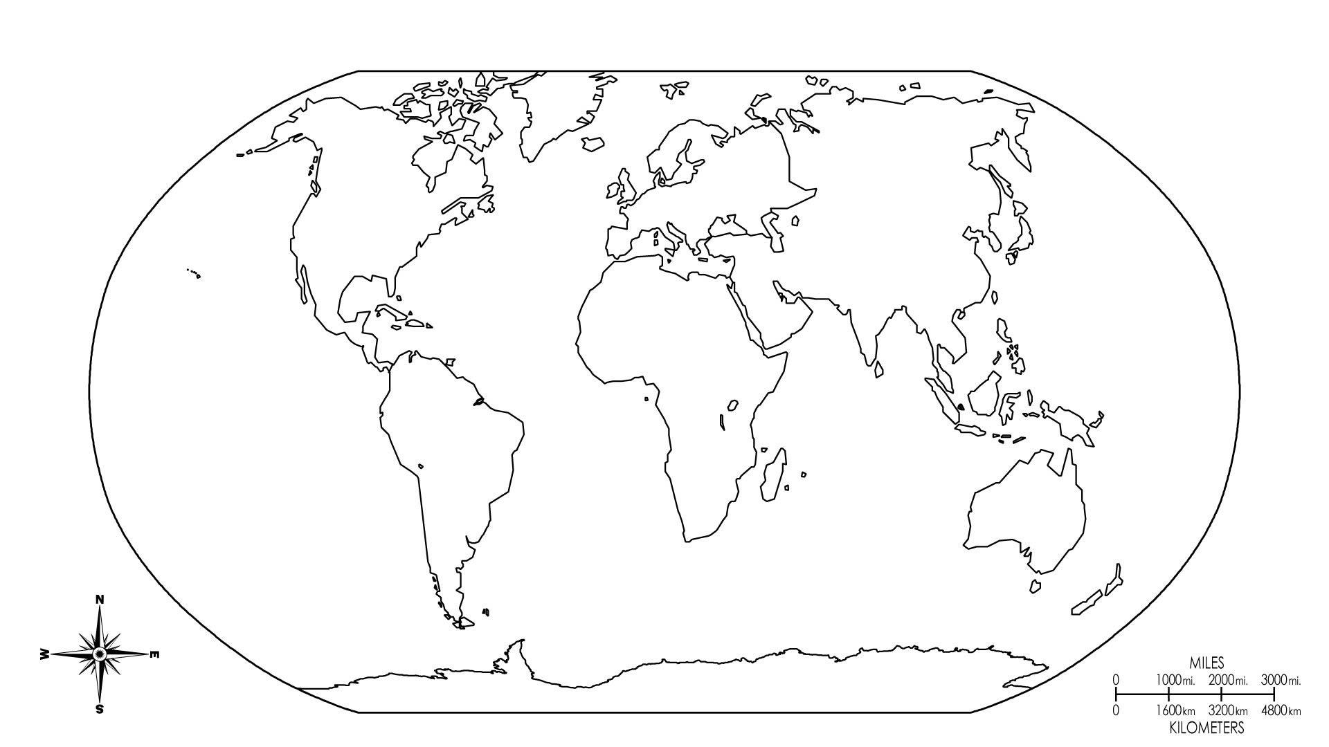 Mapa De Los Continentes Para Colorear.25 Increible Mapa Mundi Dibujo
