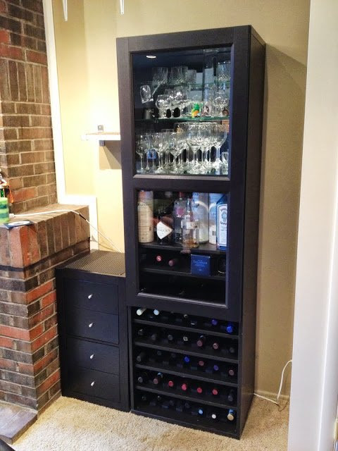 Besta Wine Rack and Liquor Cabinet - IKEA Hackers