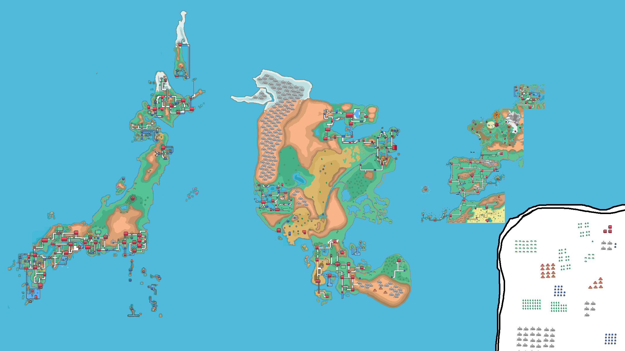 Map of the Pokemon world : pokemon