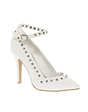 Image 1 of New Look EC Studline Pointed Ankle Strap Court Shoes