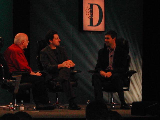 Walt Mossberg, Sergey Brin, Larry Page